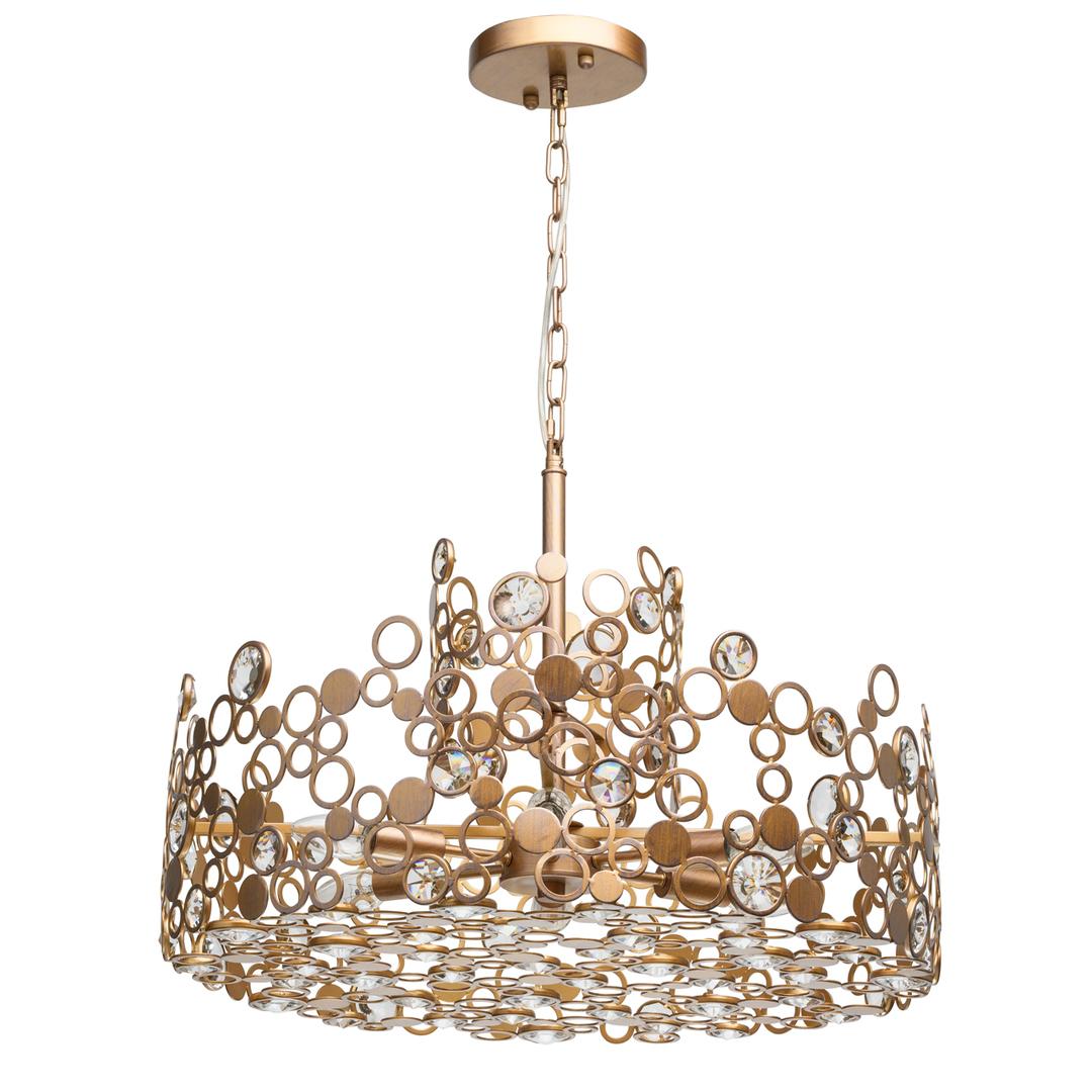 Lampa suspendată Monarch Loft 6 Brass - 121011206