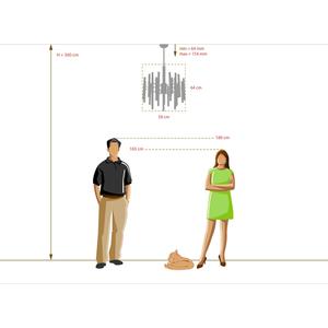 Lampa suspendată Alghero Classic 6 Brass - 285010806 small 5