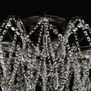 Lampa suspendată Venezia Crystal 9 Black - 464018809 small 12