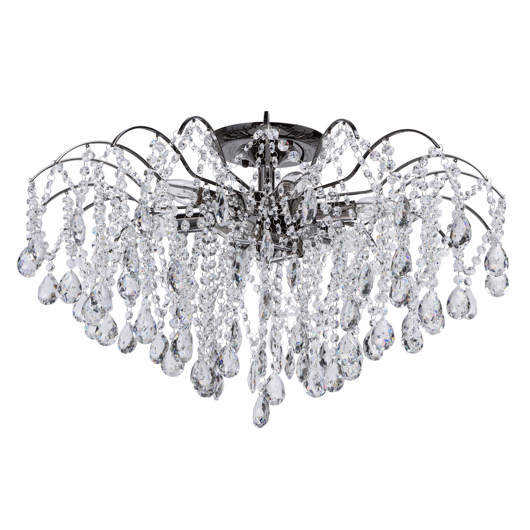 Lampa suspendată Venezia Crystal 9 Black - 464018809