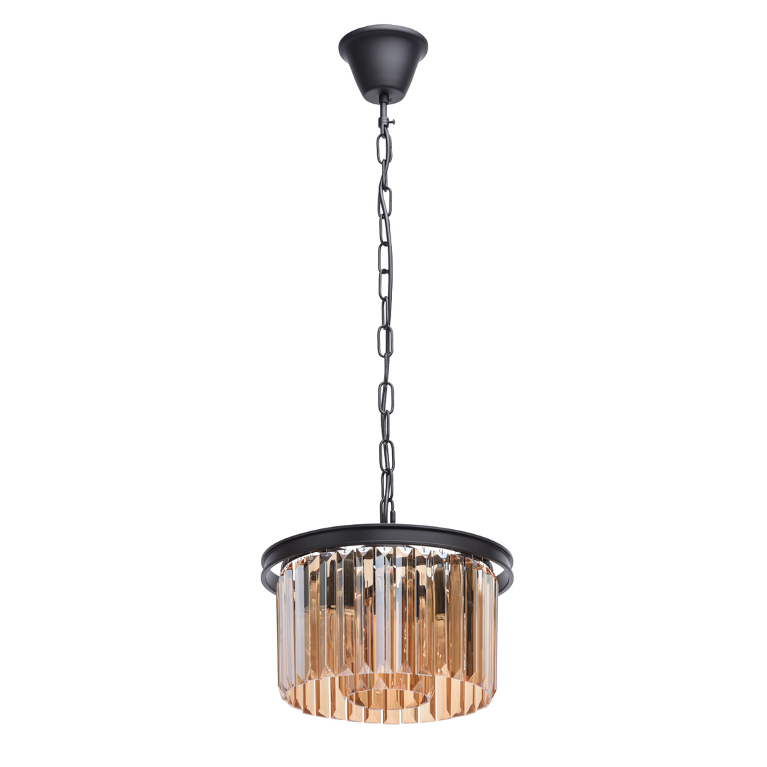 Lampa suspendată Goslar Crystal 3 Black - 498015203