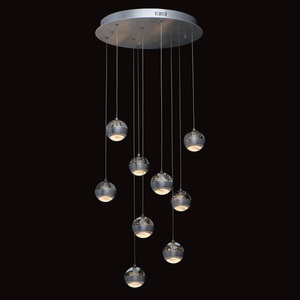 Lampa suspendată Megapolis 9 Silver - 730010209 small 1