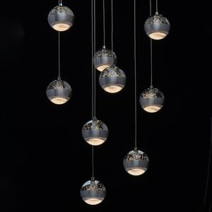 Lampa suspendată Megapolis 9 Silver - 730010209 small 6