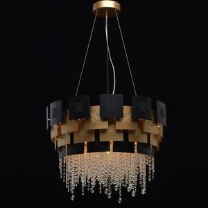 Lampa suspendată Carmen Crystal 8 Gold - 394010608 small 1