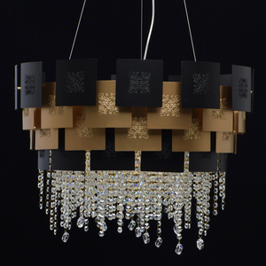 Lampa suspendată Carmen Crystal 8 Gold - 394010608 small 7
