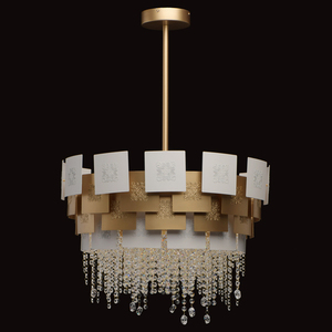 Lampa suspendată Carmen Crystal 6 Gold - 394011006 small 7