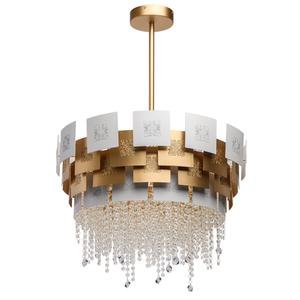 Lampa suspendată Carmen Crystal 6 Gold - 394011006 small 0