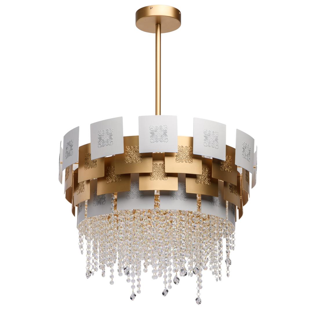 Lampa suspendată Carmen Crystal 6 Gold - 394011006