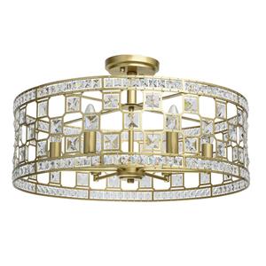 Lampa suspendată Monarch Crystal 6 Gold - 121011606 small 0