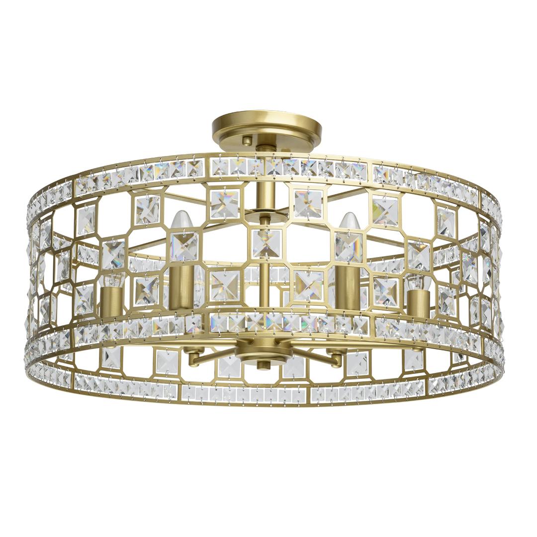 Lampa suspendată Monarch Crystal 6 Gold - 121011606