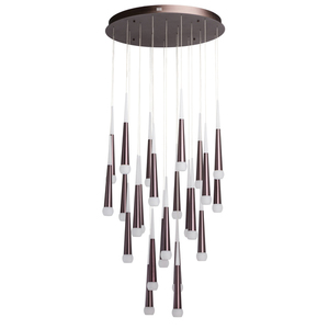 Lampa suspendată Flensburg Hi-Tech 150 Brown - 609013924 small 0
