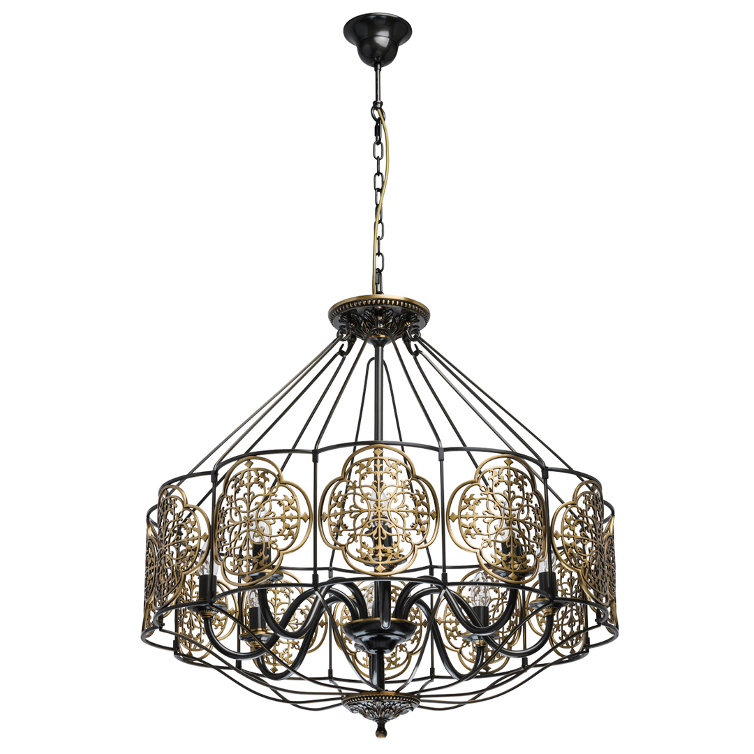 Lampa suspendată Country 8 Brass - 109010208