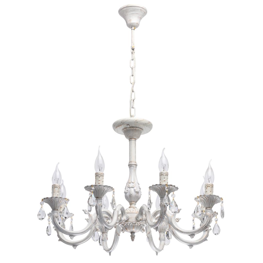 Lampa suspendată Aurora Classic 8 Alb - 371015008