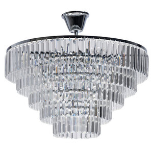 Adelard Crystal 8 Candelabru Chrome - 642013008 small 0