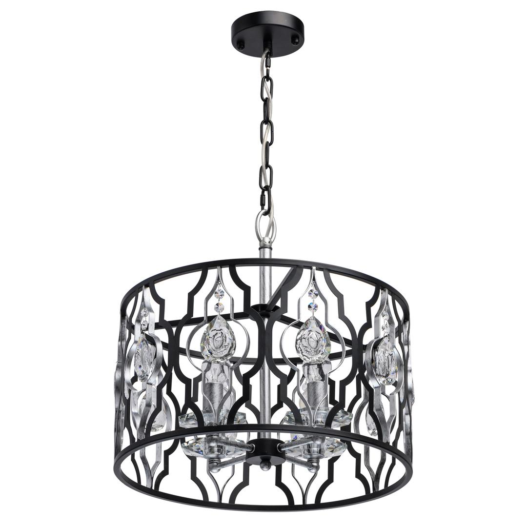 Lampa suspendată Alghero Country 4 Black - 285011804