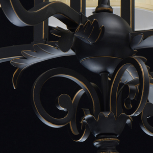 Lampa suspendată Victoria Country 8 Black - 401010908 small 4