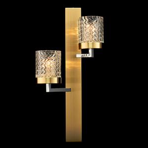 Lampă de perete Hamburg Megapolis 2 Brass - 605022002 small 1