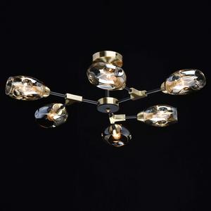 Lampă de tavan Hamburg Megapolis 6 Negru - 605012106 small 1