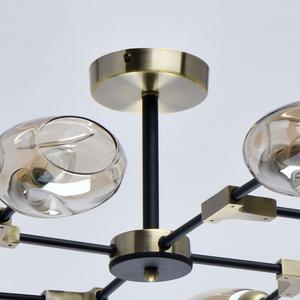Lampa suspendată Hamburg Megapolis 8 Negru - 605012208 small 3
