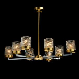 Lampa suspendată Hamburg Megapolis 8 Brass - 605011708 small 1