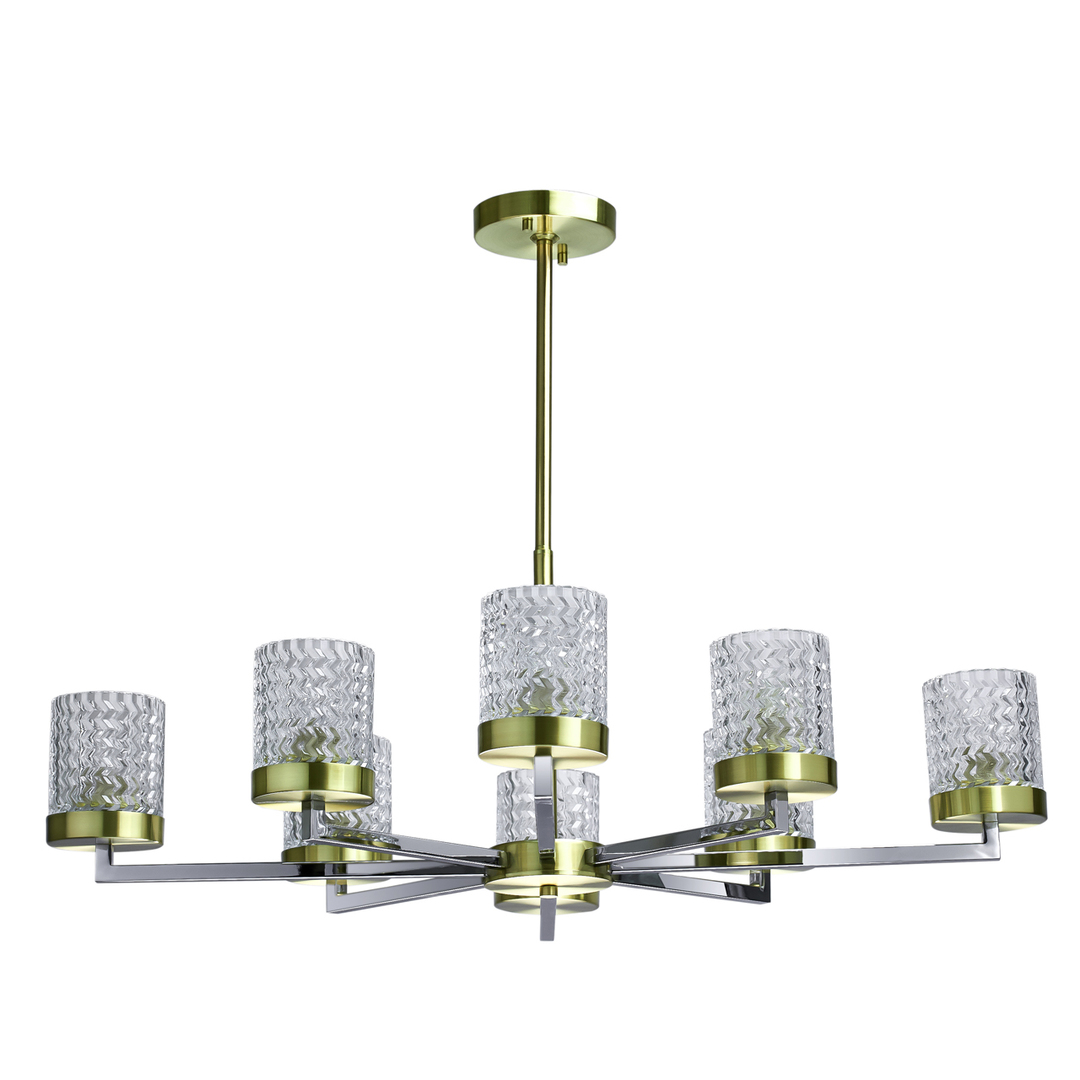 Lampa suspendată Hamburg Megapolis 8 Brass - 605011708