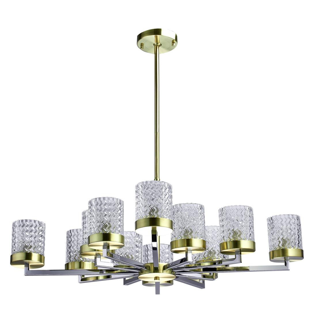 Lampa suspendată Hamburg Megapolis 12 Brass - 605011912