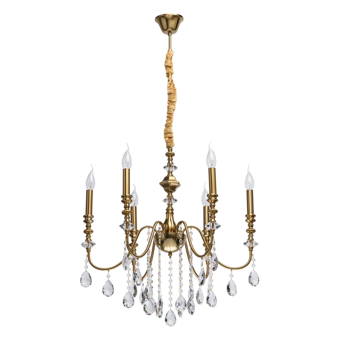 Lampa suspendată Consuelo Classic 6 Brass - 614012506