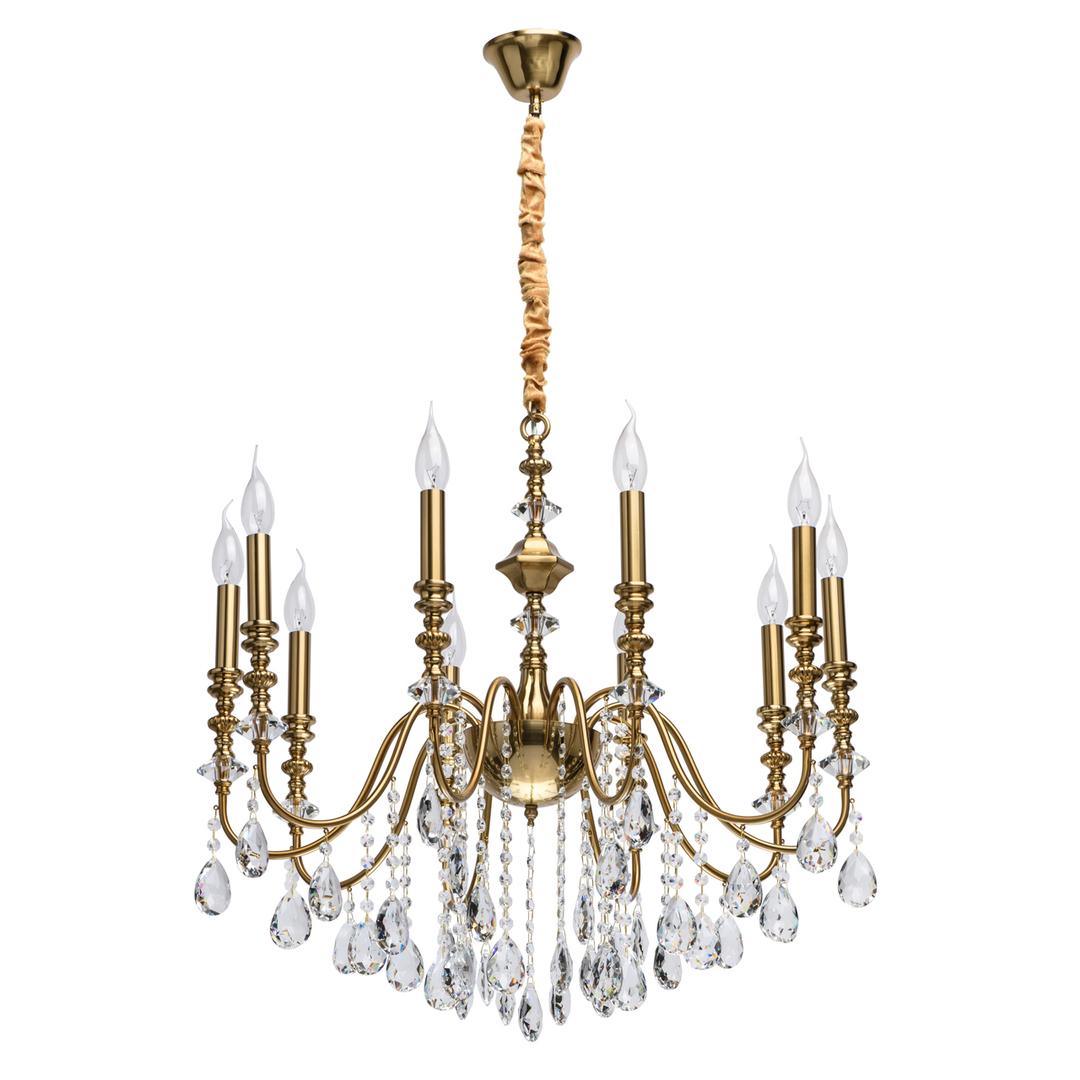 Lampa suspendată Consuelo Classic 10 Brass - 614012610