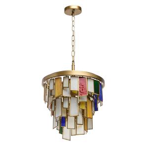 Lampa suspendată Maroc Megapolis 6 Brass - 185011106 small 0