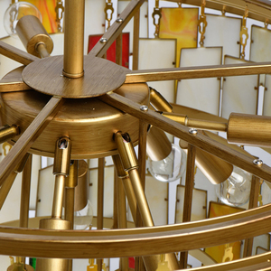 Lampa suspendată Maroc Megapolis 15 Brass - 185011215 small 11
