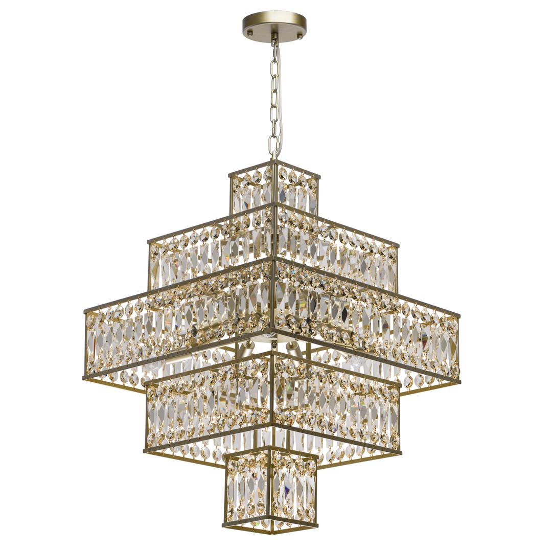 Lampa suspendată Monarch Crystal 16 Gold - 121012416