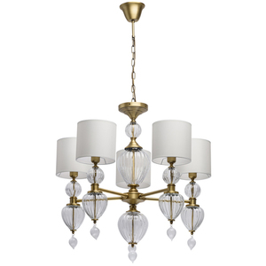 Lampa suspendată Odelia Classic 5 Brass - 619011305 small 0