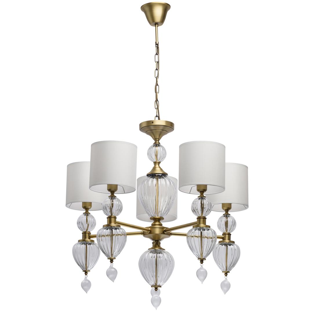 Lampa suspendată Odelia Classic 5 Brass - 619011305