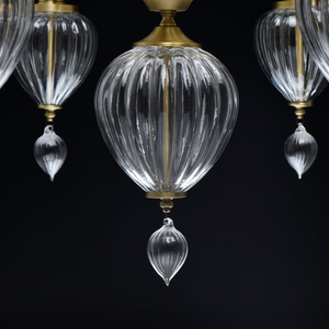 Lampa suspendată Odelia Classic 8 Brass - 619011408 small 2