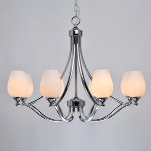 Lampă cu pandantiv Palermo Elegance 8 Chrome - 386016408 small 3