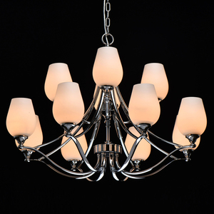 Lampă cu pandantiv Palermo Elegance 12 Chrome - 386016512 small 1