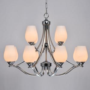 Lampă cu pandantiv Palermo Elegance 12 Chrome - 386016512 small 5