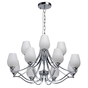 Lampă cu pandantiv Palermo Elegance 12 Chrome - 386016512 small 0