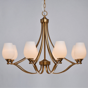 Lampă cu pandantiv Palermo Elegance 8 Alamă - 386016708 small 4