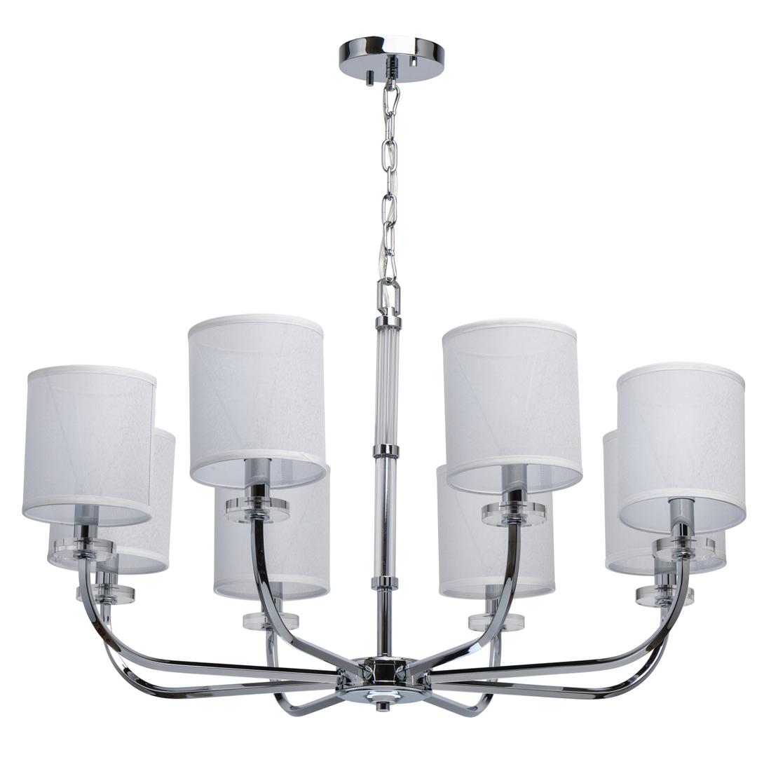 Lampă cu pandantiv Palermo Elegance 8 Chrome - 386017008