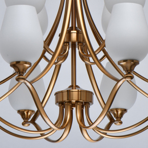 Lampă cu pandantiv Palermo Elegance 12 Alamă - 386016812 small 11