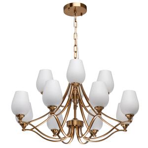 Lampă cu pandantiv Palermo Elegance 12 Alamă - 386016812 small 0