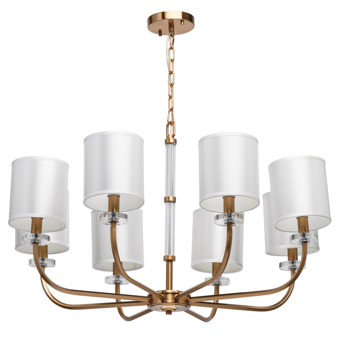 Lampă cu pandantiv Palermo Elegance 8 Alamă - 386017408
