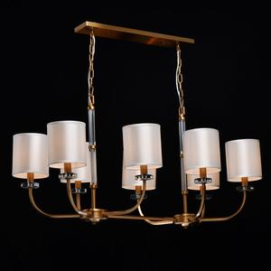 Lampă cu pandantiv Palermo Elegance 8 Brass - 386017508 small 1
