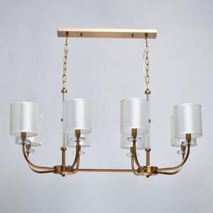 Lampă cu pandantiv Palermo Elegance 8 Brass - 386017508 small 4