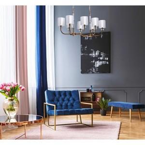 Lampă cu pandantiv Palermo Elegance 8 Brass - 386017508 small 3