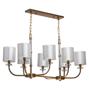 Lampă cu pandantiv Palermo Elegance 8 Brass - 386017508 small 0