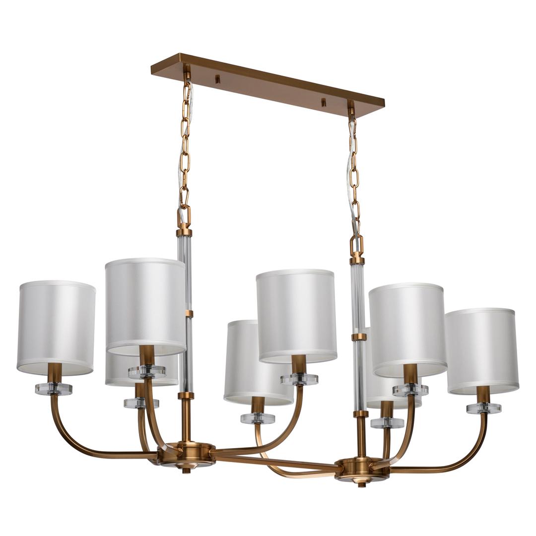 Lampă cu pandantiv Palermo Elegance 8 Brass - 386017508