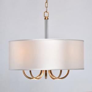 Lampă cu pandantiv Palermo Elegance 5 Brass - 386017605 small 4