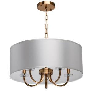 Lampă cu pandantiv Palermo Elegance 5 Brass - 386017605 small 0